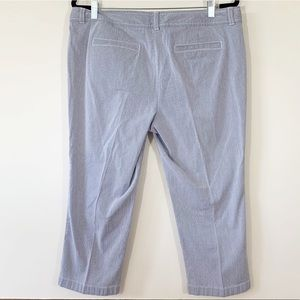 LOFT Pants - ❌LOFT . Original Crop Pinstripe Pants. Size 14